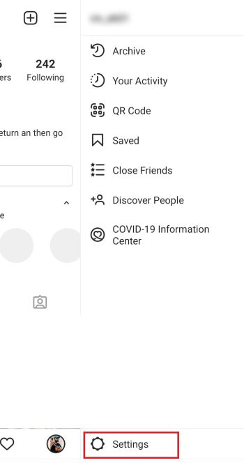 At the bottom of the page you will see settings option