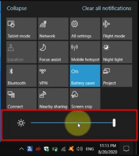 Monitor Drivers have been successfully updated in window 10 brightness