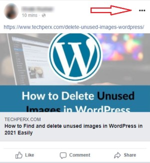 your Facebook post